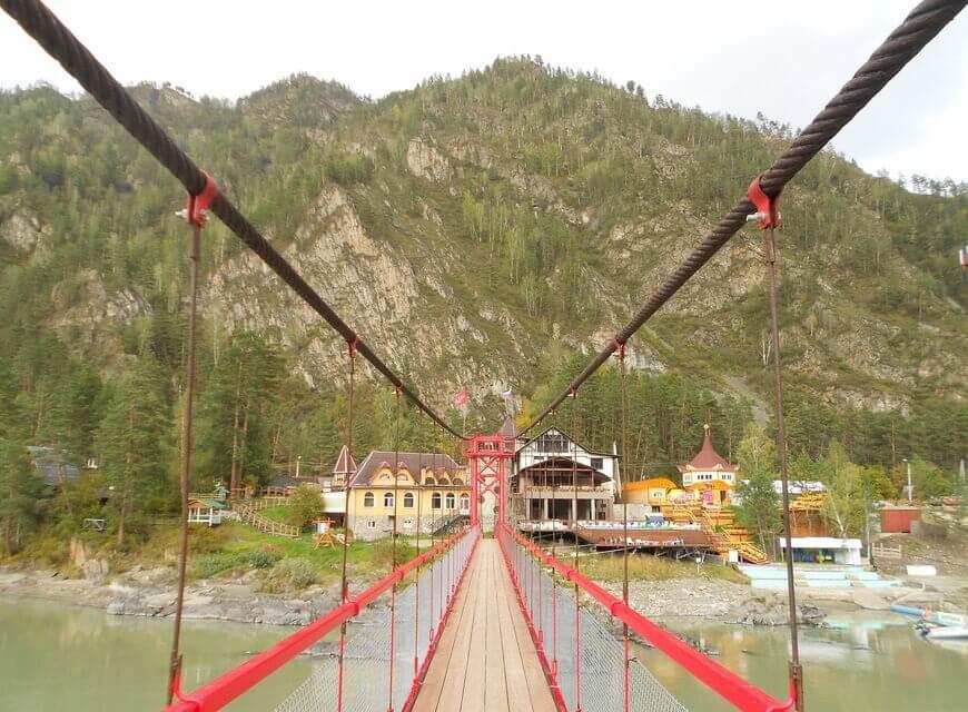 Мост к Камышлинскому водопаду